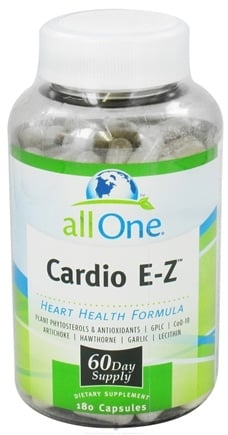 DROPPED: All One - Cardio E-Z - 180 Capsules (formerly TRC Nutritional Labs) CLEARANCE PRICED