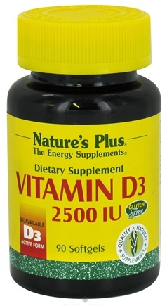 DROPPED: Nature's Plus - Vitamin D 2500 IU - 90 Softgels CLEARANCE PRICED