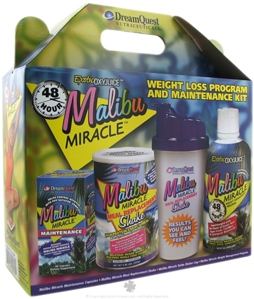 DROPPED: Dream Quest Nutraceuticals - Malibu Miracle Weight Loss & Maintenance Kit SPECIALLY PRICED - 4 Piece(s)