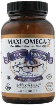 DROPPED: Maxi-Health Research Kosher Vitamins - Maxi-Omega-3 Eye Formula Certified Kosher Fish Oil - 60 Capsules CLEARANCE PRICED