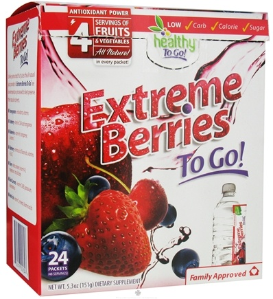 DROPPED: To Go Brands - Healthy To Go Extreme Berries To Go Berry - 24 Packet(s) CLEARANCE PRICED