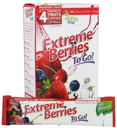 DROPPED: To Go Brands - Healthy To Go Extreme Berries To Go Berry - 6 Packet(s) CLEARANCE PRICED