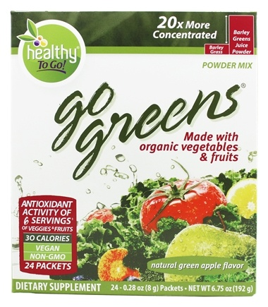 To Go Brands - Healthy To Go Go Greens Fruit - 24 Packet(s)