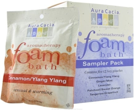 DROPPED: Aura Cacia - Aromatherapy Foam Bath Sampler Pack - 5 Packet(s)