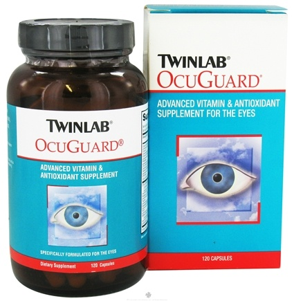 DROPPED: Twinlab - OcuGuard Advanced Vitamin & Antioxidant Supplement For The Eyes - 120 Capsules