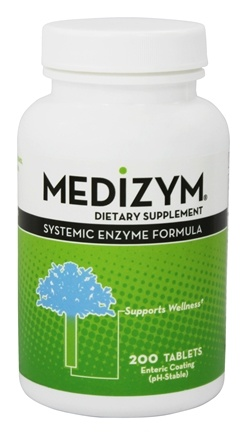 Naturally Vitamins - Medizym Systemic Enzyme Formula - 200 Tablets