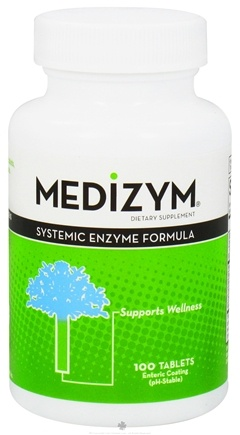 DROPPED: Naturally Vitamins - Medizym Systemic Enzyme Formula - 100 Tablets CLEARANCE PRICED