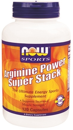 DROPPED: NOW Foods - Arginine Power Super Stack - 120 Capsules