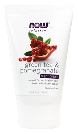 NOW Foods - Green Tea Pomegranate Night Cream - 2 oz.