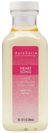 DROPPED: Aura Cacia - Aromatherapy Bubble Bath Heart Song - 13 oz. CLEARANCE PRICED