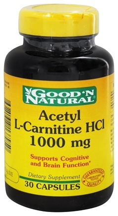 DROPPED: Good 'N Natural - Acetyl L-Carnitine 1000 mg. - 30 Capsules