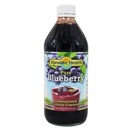Dynamic Health - Juice Concentrate 100% Pure Blueberry - 16 oz.