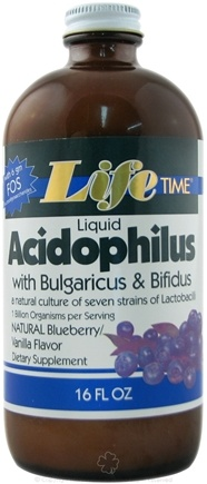 DROPPED: LifeTime Vitamins - Acidophilus Liquid Blueberry/Vanilla Flavor - 16 oz.