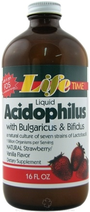 DROPPED: LifeTime Vitamins - Acidophilus Liquid Strawberry/Vanilla Flavor - 16 oz.