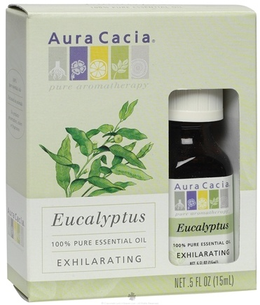 DROPPED: Aura Cacia - Essential Oil Exhilarating Eucalyptus - 0.5 oz. CLEARANCE PRICED
