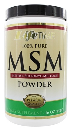 LifeTime Vitamins - 100% Pure MSM Powder - 16 oz.