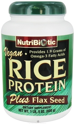 DROPPED: Nutribiotic - Vegan Rice Protein Plus Flax Seed - 1.5 lbs.
