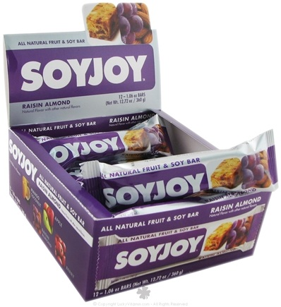 DROPPED: SoyJoy - All Natural Fruit & Soy Bar Raisin Almond - 1.05 oz. CLEARANCE PRICED
