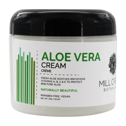 DROPPED: Mill Creek Botanicals - Aloe Vera Cream 80% Pure Soothes Irritations - 4 oz. CLEARANCE PRICED