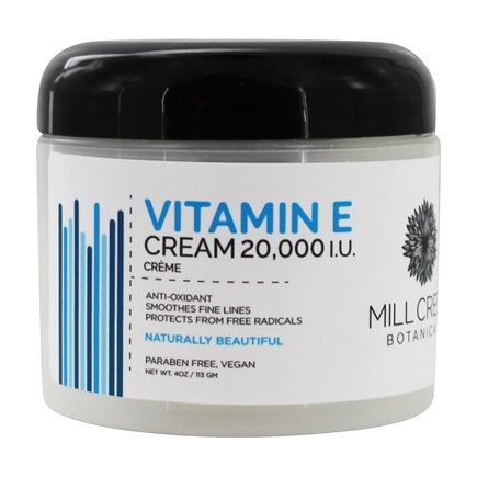 Mill Creek Botanicals - Vitamin E Cream Anti-Oxidant 20000 IU - 4 oz.
