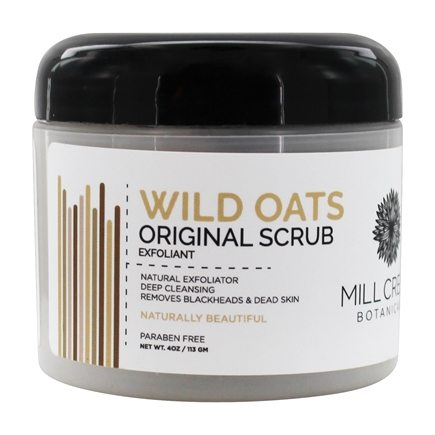 DROPPED: Mill Creek Botanicals - Wild Oats Scrub Natural Exfoliator - 4 oz.