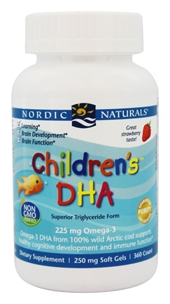Nordic Naturals - Children's DHA Strawberry 250 mg. - 360 Chewable Gels