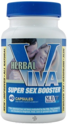 DROPPED: MD Science Lab - Herbal VIVA Super Sex Booster Contains Tongkat Ali - 40 Capsules