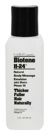 Mill Creek Botanicals - Biotene H-24 Natural Scalp Massage Emulsion With Biotin Phase III - 2 oz.