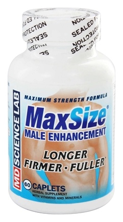 MD Science Lab - Max Size Male Enhancement Formula Maximum-Strength - 60 Tablets
