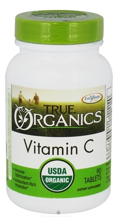 DROPPED: Enzymatic Therapy - True Organics Vitamin C - 90 Tablets CLEARANCE PRICED