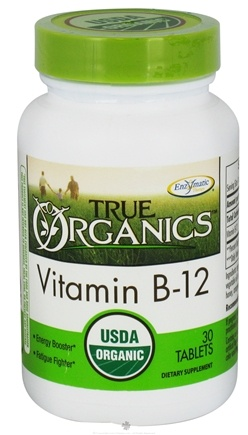 DROPPED: Enzymatic Therapy - True Organics Vitamin B-12 - 30 Tablets CLEARANCE PRICED