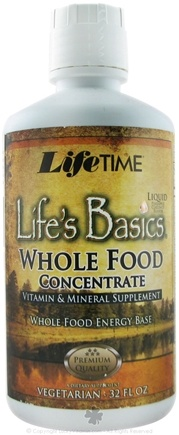 DROPPED: LifeTime Vitamins - Life's Basics Liquid Multiple Whole Food Concentrate Pineapple Coconut - 32 oz. CLEARANCE PRICED
