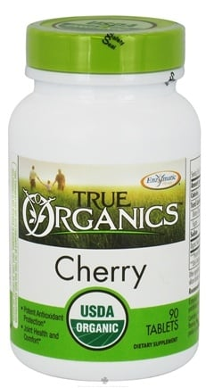 DROPPED: Enzymatic Therapy - True Organics Cherry - 90 Tablets