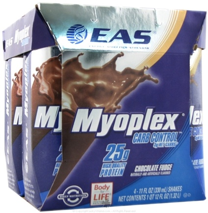 DROPPED: EAS - Myoplex Carb Control RTD 25g Protein Shake Chocolate Fudge - 4 Pack CLEARANCE PRICED