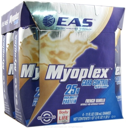 DROPPED: EAS - Myoplex Carb Control RTD 25g Protein Shake French Vanilla - 4 Pack CLEARANCE PRICED