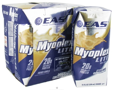 DROPPED: EAS - Myoplex Lite RTD 20g Protein Shake French Vanilla - 4 Pack CLEARANCE PRICED