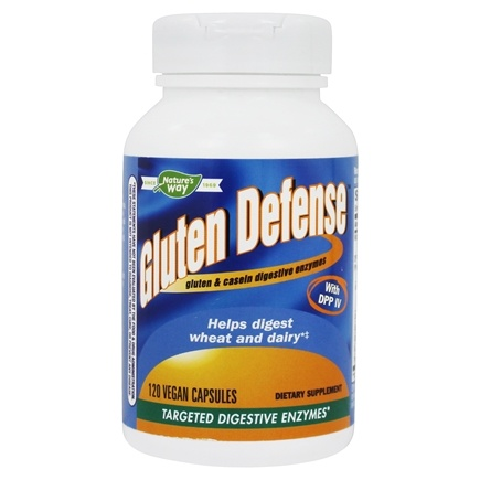 Enzymatic Therapy - Gluten Defense with DPP IV - 120 Vegetarian Capsules