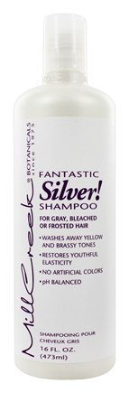 Mill Creek Botanicals - Fantastic Silver Shampoo For Gray Bleached or Frosted Hair - 16 oz.