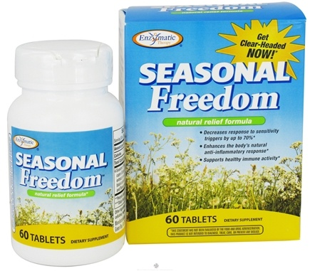 DROPPED: Enzymatic Therapy - Seasonal Freedom Natural Relief Formula - 60 Tablets CLEARANCE PRICED