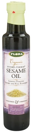 DROPPED: Flora - Organic Hydro-Therm Sesame Oil - 8.5 oz. CLEARANCE PRICED