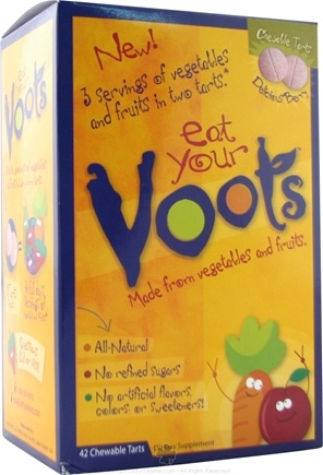 DROPPED: Voots - Voots Fruit and Vegetable Supplement for Kids Delicious Berry - 42 Chewable Tablets