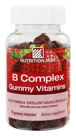 Nutrition Now - B Complex Gummy Vitamins for Adults Strawberry - 70 Gummies