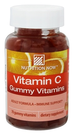 DROPPED: Nutrition Now - Vitamin C Gummy Vitamins for Adults Orange - 70 Gummies