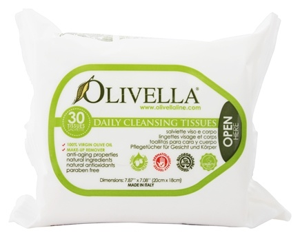 Olivella - Daily Facial Cleansing Tissues - 30 Tissue(s)