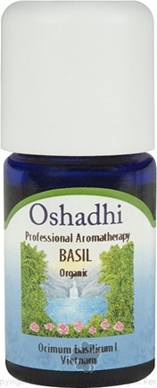 DROPPED: Oshadhi - Professional Aromatherapy Basil Organic Essential Oil - 5 ml. CLEARANCE PRICED