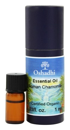Oshadhi - Professional Aromatherapy Roman Chamomile Certified Organic Essential Oil - 1 ml.