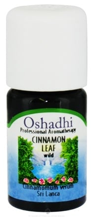 DROPPED: Oshadhi - Professional Aromatherapy Wild Cinnamon Leaf Essential Oil - 5 ml. CLEARANCE PRICED