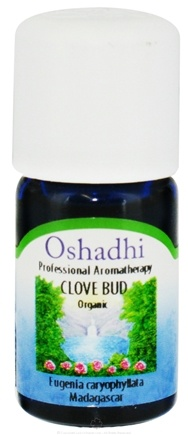 DROPPED: Oshadhi - Professional Aromatherapy Organic Clove Bud Essential Oil - 5 ml. CLEARANCE PRICED