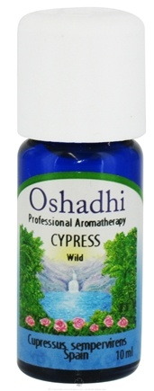 DROPPED: Oshadhi - Professional Aromatherapy Wild Cypress Essential Oil - 10 ml. CLEARANCE PRICED