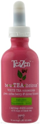 DROPPED: TeaZen - Be U TEA Licious White Tea Concentrate Peach - 2 oz. CLEARANCE PRICED